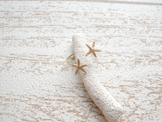 ☆SALE☆ 14kgf Double Star Fish Ring