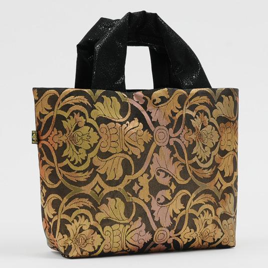 上品・豪華 絹帯バッグ