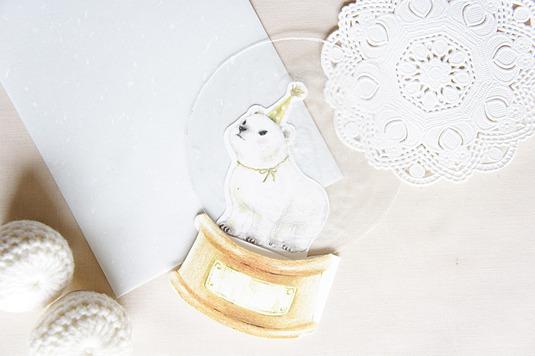 【再販】シロクマのスノードームカード