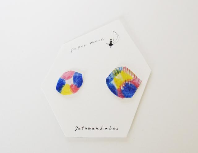 【paper moon】紙でつくったピアス(neon)