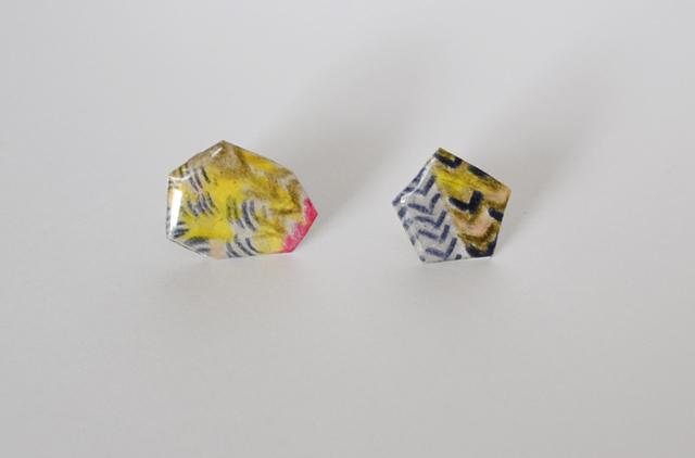 【paper moon】紙でつくったピアス(knit)
