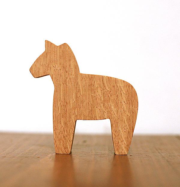 木製 馬の小物 ダーラナホース 木工 クリスマスオブジェ