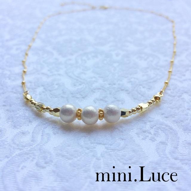 Simple Elegant−3連ブレスレット-ネックレス