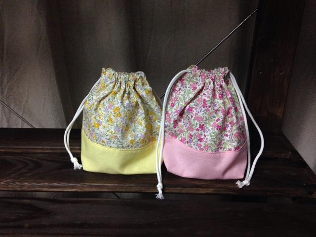 コップ袋2枚セット.小花