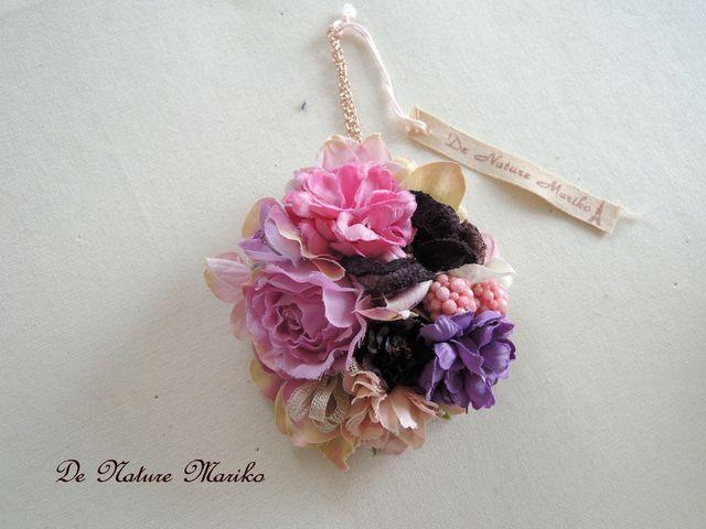 Antique ダイアと小花のコサージュモチーフ