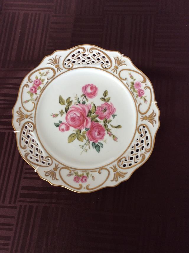 薔薇の絵皿