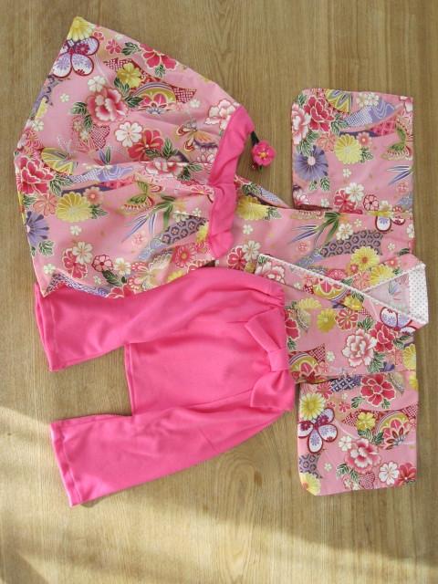 fukaumi1123  様オーダー品 80cm 着物&袴もどき&スカート、髪飾り