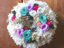 XS size order-made preserved flowers wreath   リース S様オーダー品