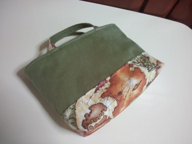 帆布のミニトートバッグ