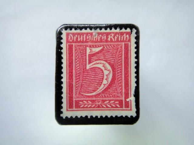 ドイツ 1921年 切手ブローチ800