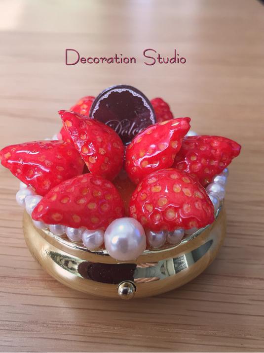 いちごのピルケース Sweets Deco