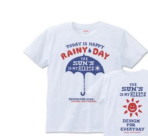 アンブレラ(傘)〜happy rainy day〜  XS(女性XS〜S) Tシャツ【受注生産品】