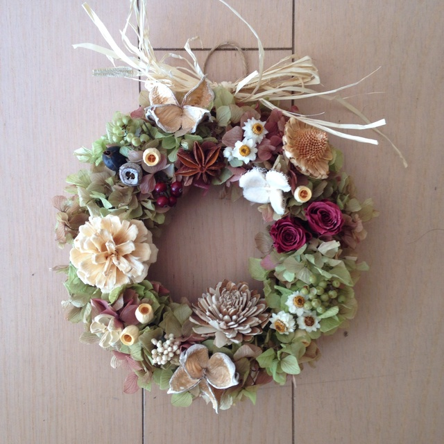(C様オーダー)wine color wreath