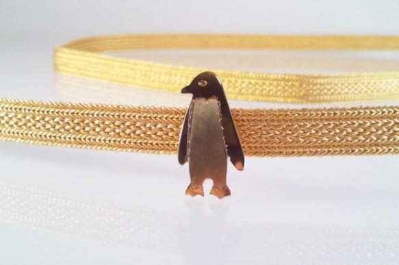 ☆ペンギン☆真鍮帯留め