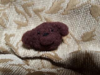 羊毛フェルト★プードルちゃんブローチ