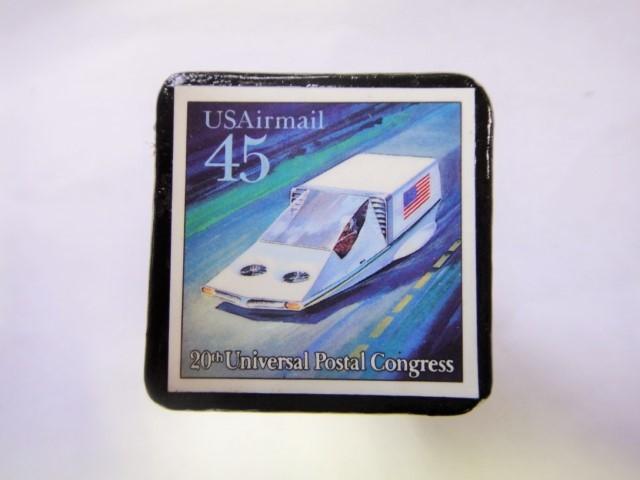 アメリカ 宇宙切手ブローチ 825