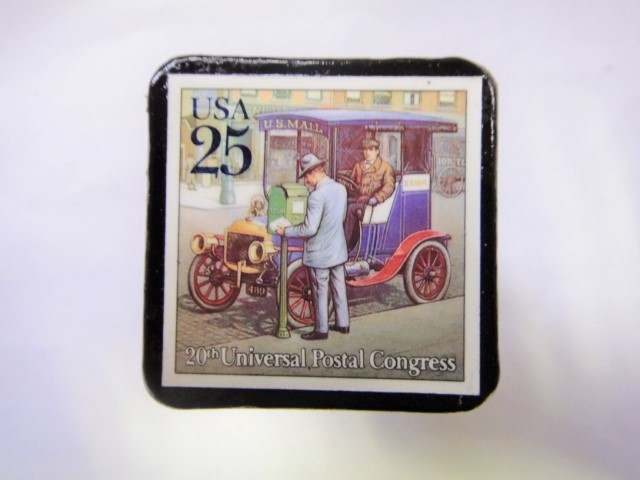 アメリカ 郵便輸送切手ブローチ 826
