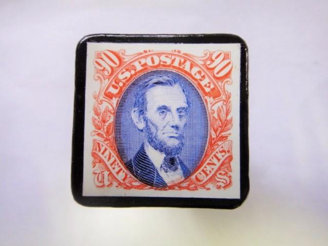 アメリカ 切手ブローチ 831