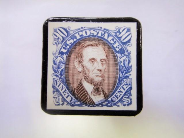 アメリカ 切手ブローチ 832