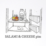 SALAMI &CHEESE pins