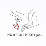 NUMBER TICKET pins