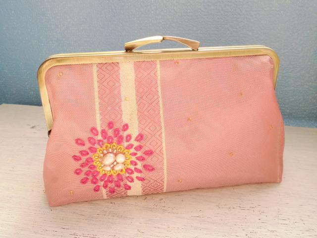 チュニジア布のがまぐち(ピンク)