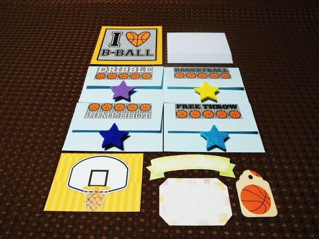 お誕生日に、寄せ書きに、カードのデコレーションにも<317>バスケット
