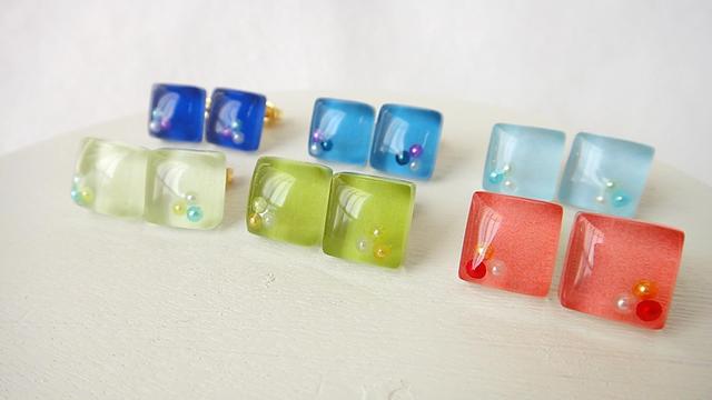 ガラスタイル〜Pearl〜 ピアス