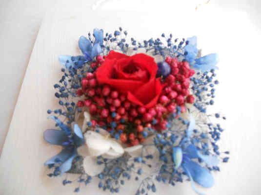 赤とブルーのマンダラフラワー