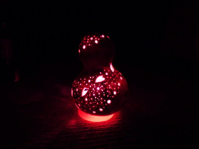 千成ひょうたんランプ 桜流し ピンクLED