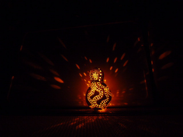 千成ひょうたんランプ オクトパスモチーフ 電球色オレンジLED