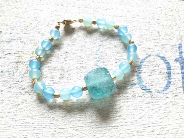 ☆再販☆  Roman Glass Ocean Bracelet