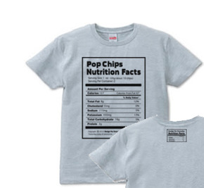 Nutrition Facts(栄養成分表)S〜XL Tシャツ【受注生産品】