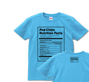Nutrition Facts(栄養成分表) S〜XL Tシャツ【受注生産品】
