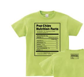 【再販】Nutrition Facts(栄養成分表)WS〜WL?S〜XL Tシャツ【受注生産品】