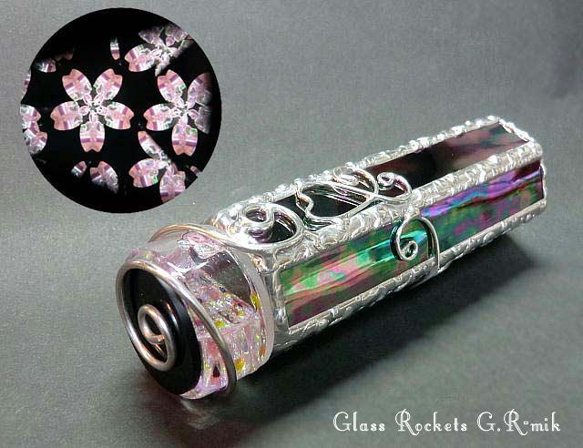 夜桜の万華鏡 ステンドグラス(受注制作)