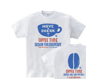 coffee time-〜have a break?〜 WM〜WL?S〜XL Tシャツ【受注生産品】