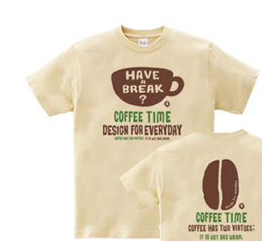 【再販】coffee time-〜have a break?〜 WS〜WM?S〜XL Tシャツ【受注生産品】