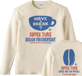 coffee time-〜have a break?〜 長袖Tシャツ【受注生産品】