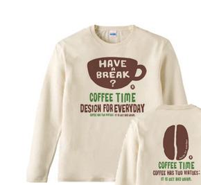 【再販】coffee time-〜have a break?〜 長袖Tシャツ【受注生産品】