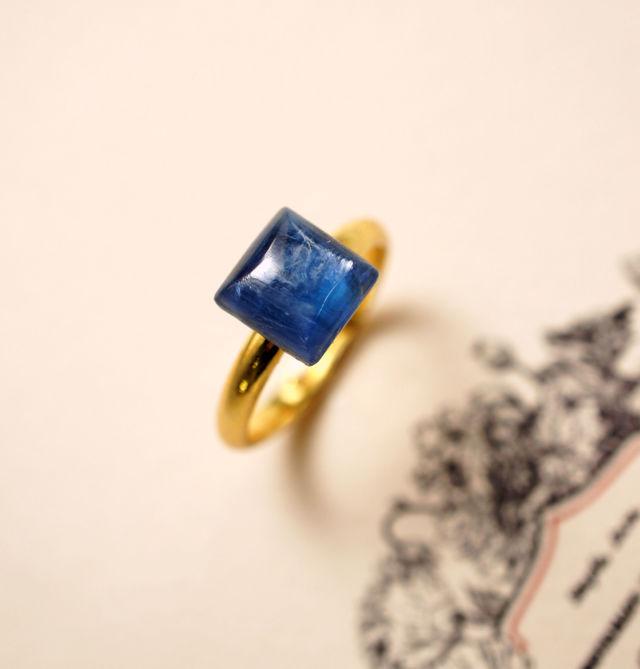 再販】フリーサイズ★テトラゴン・カイヤナイトのリング 〜Camillo