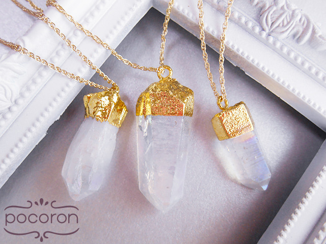 [14kGF]天使の輝き*オーロラ水晶ネックレス