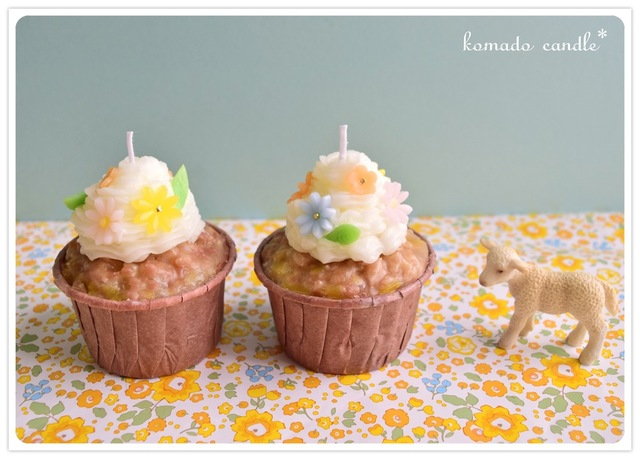 春を待つカップケーキのキャンドル