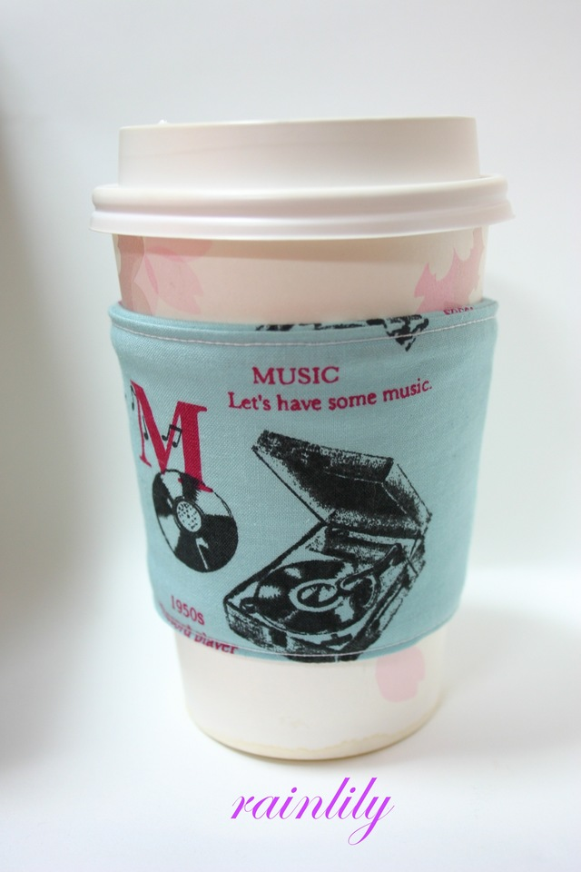 Cup sleeve -GUYS!- aqua