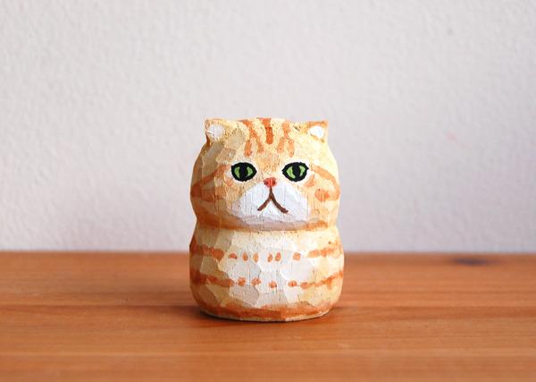 木彫り人形 エキゾチック チャトラ  [MWF-050]