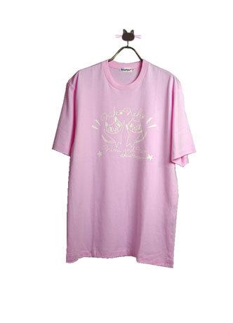 ニコネコpt ピンク半袖Tシャツ 120cm
