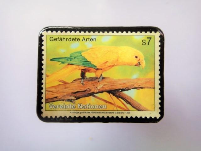 国連 野生保護 切手ブローチ 844