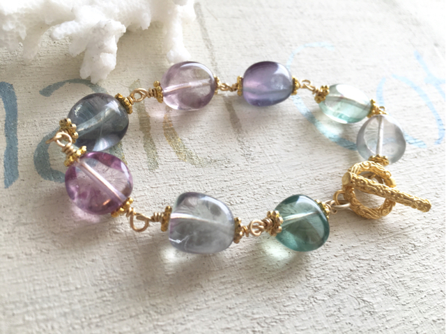 mermaid 's rainbow bracelet/フローライト