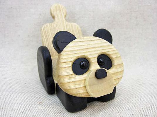 《パンダ》の携帯電話スタンド(スマホも置けますよ)