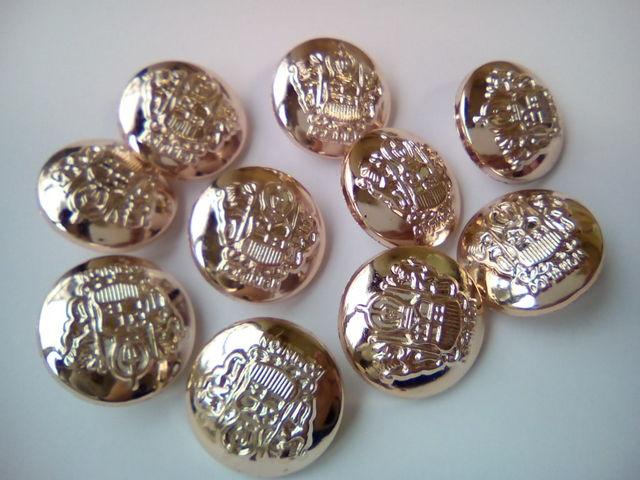 10個 シャンクボタン 足つきボタン ブレザーボタン 25mm D1